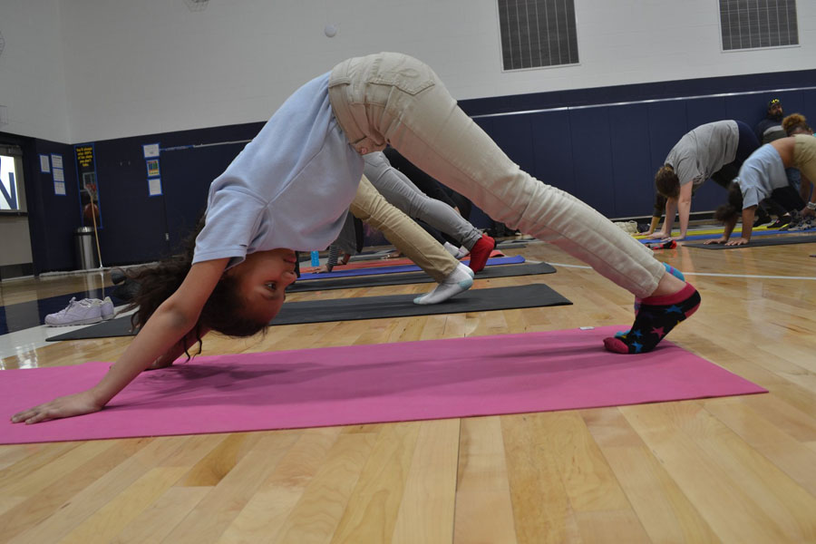 KCE has a gym where KIPPsters practice yoga, mindfulness, and have their gym classes.