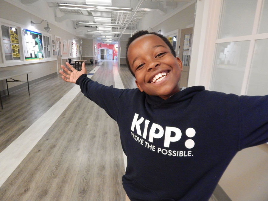A KIPPster welcoming you to KCE.