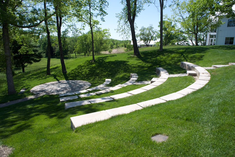 The outdoor amphitheater at KCM.