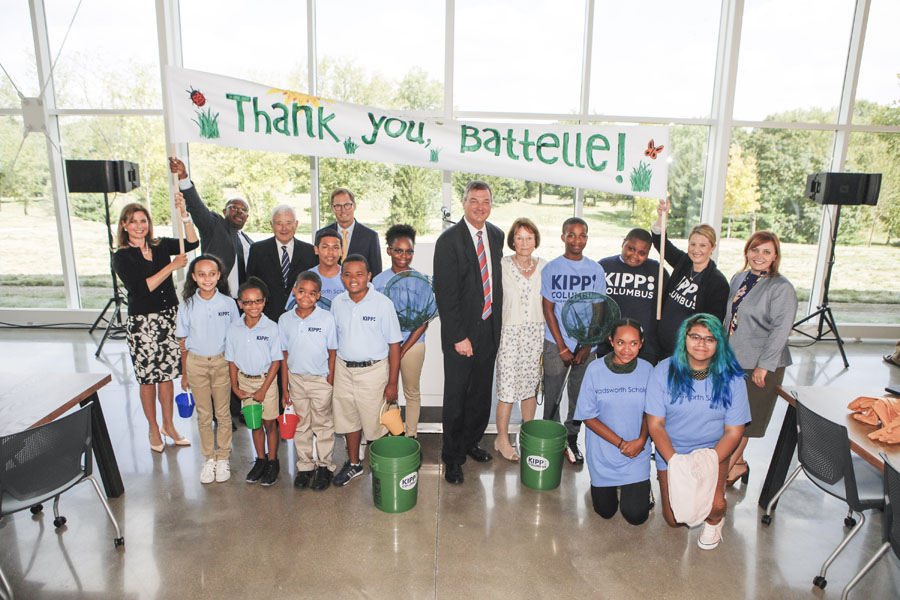 Grand opening celebration of the Battelle Environmental Center in August, 2017 with Dr. Wadsworth, former CEO of Battelle.