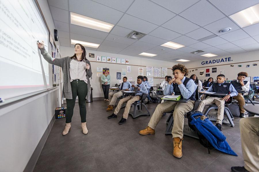 A classroom at KCH.