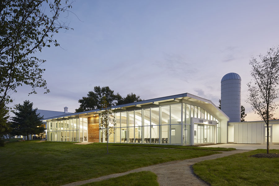 Another viewpoint of the back of the Battelle Environmental Center.