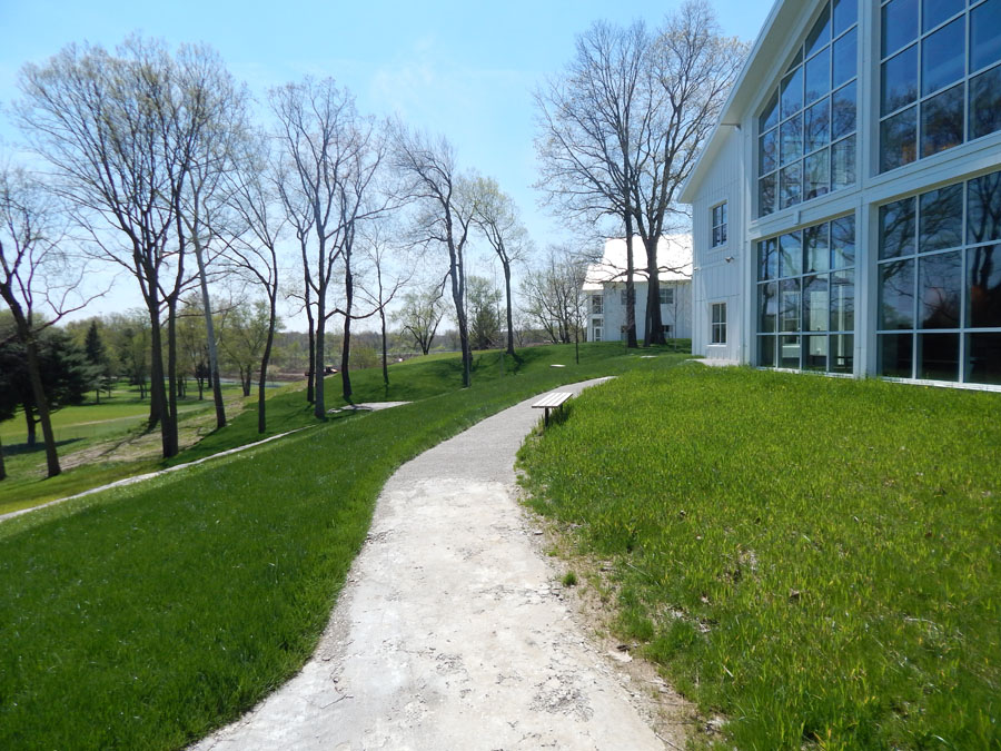 The path that connects KCM to the Battelle Environmental Center.