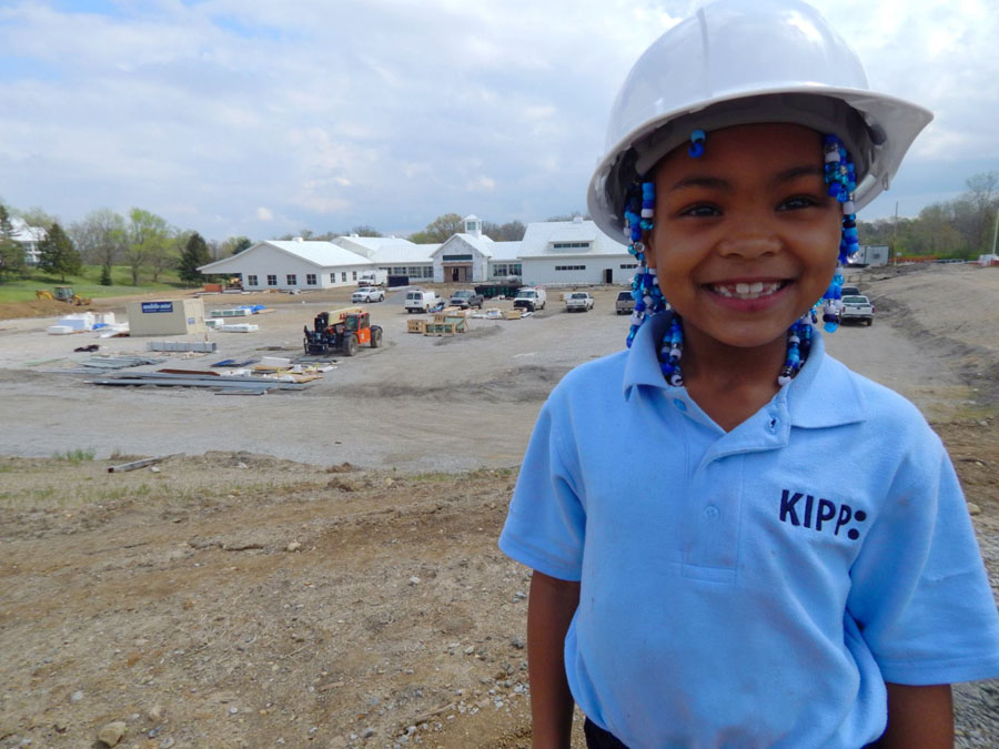 A KIPPster visiting KCP during construction.