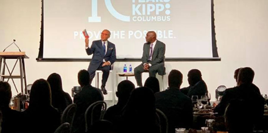 Antoine Fisher & Michael Coleman during a conversation at 2018 Prove the Possible.