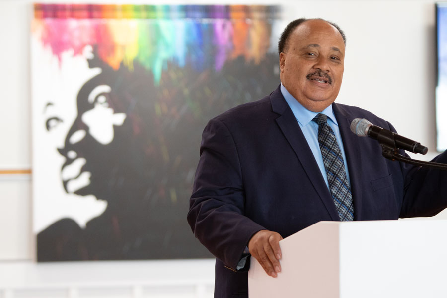 Martin Luther King III, at a reading of his book at KIPP Columbus Primary.