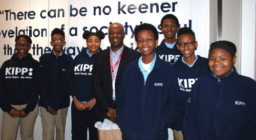 Donald Brown with KIPP Columbus Middle KIPPsters