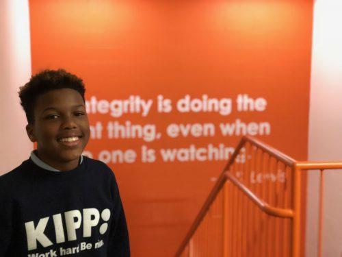 KIPP Columbus student